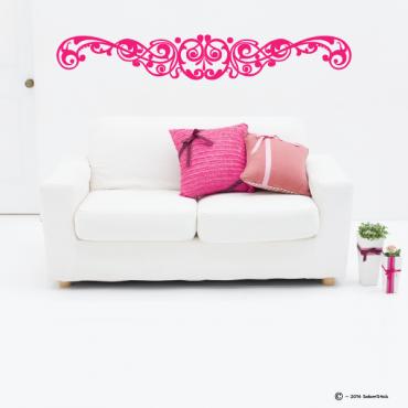 Sticker tête de lit arabesque