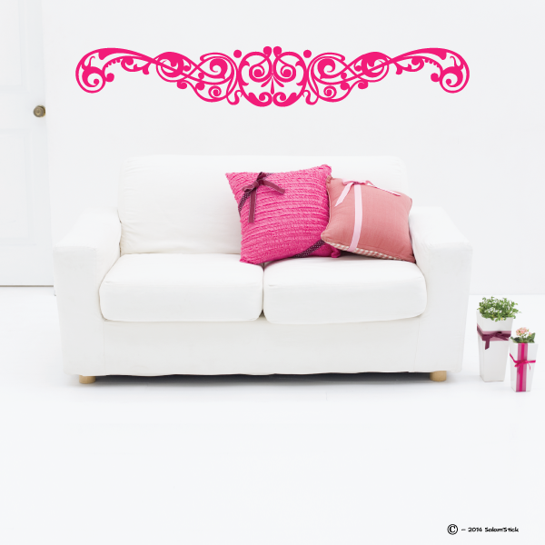 sticker t te de lit arabesque. Black Bedroom Furniture Sets. Home Design Ideas