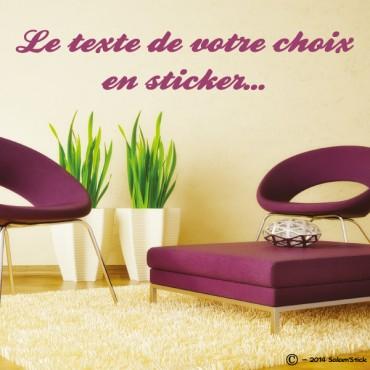 sticker texte personnalis. Black Bedroom Furniture Sets. Home Design Ideas