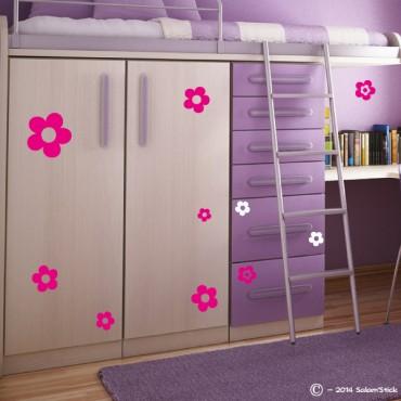 Sticker lot fleurs
