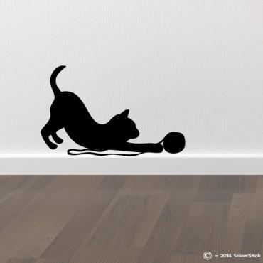 Sticker chat avec une pelote