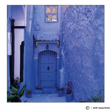 Magnet porte orientale bleue