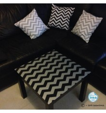 Sticker chevron table LACK