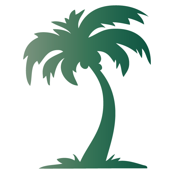 Sticker palmier miroir