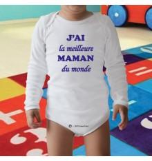 Body personnalisé J'AI la meilleure MAMAN du monde