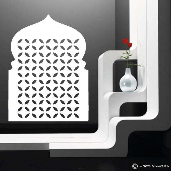 sticker mural porte orientale motifs. Black Bedroom Furniture Sets. Home Design Ideas