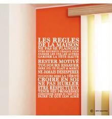 Sticker Les règles de la maison