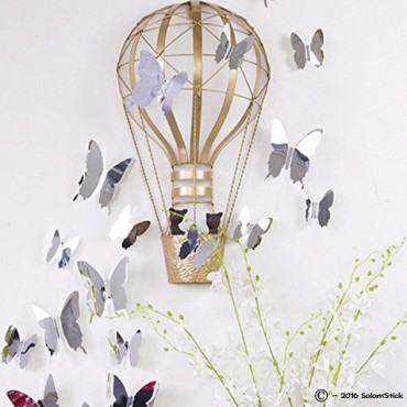 Lot de 12 papillons 3D MIROIR