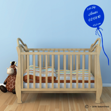 Sticker ballon naissance enfant