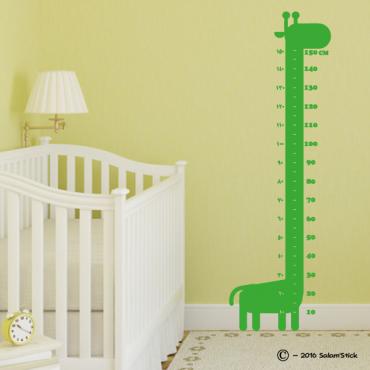 Sticker toise girafe 1m50