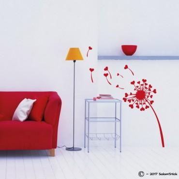 Sticker pissenlit coeur
