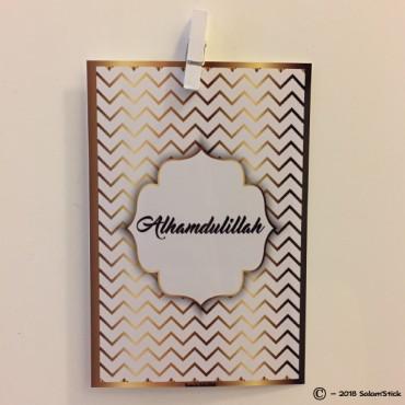 Carte chevron Al Hamdulillah