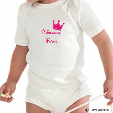 Body personnalisé princesse