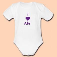 Body personnalisé I love Abi