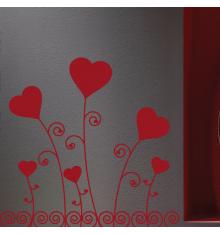 Sticker parterre de coeur