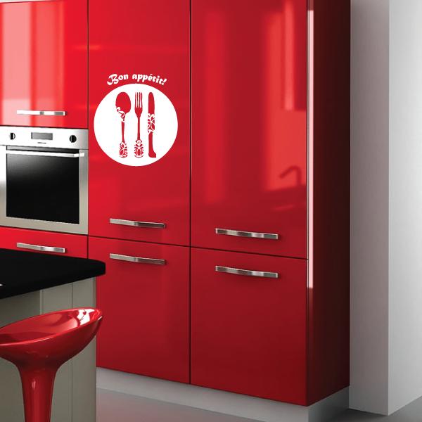 Sticker bulle bon appetit - Stickers meuble cuisine uni ...