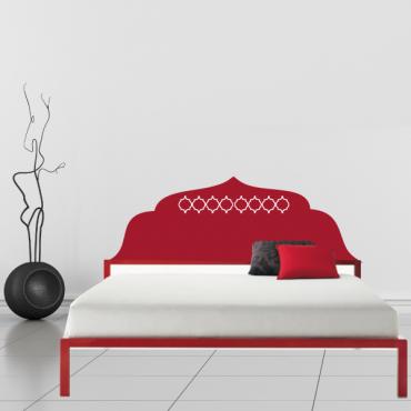 sticker t te de lit orientale. Black Bedroom Furniture Sets. Home Design Ideas
