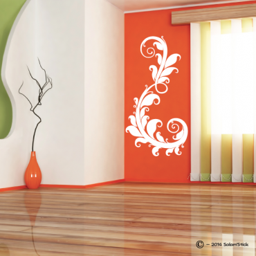 Sticker arabesque florale