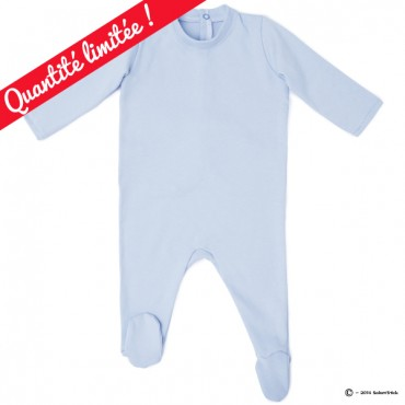 Pyjama bio personnalisable bleu
