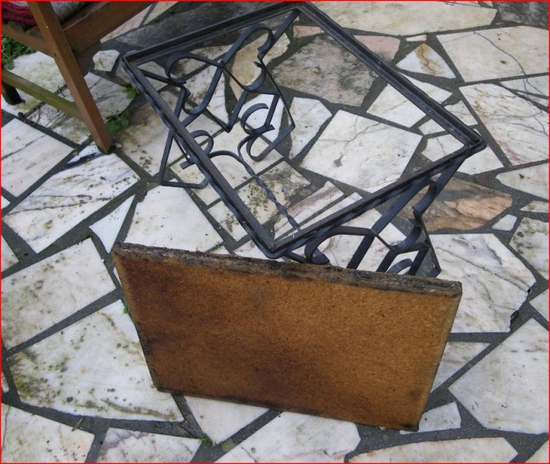 Restauration d 39 une table blasse en fer forg for Restauration d une table en bois