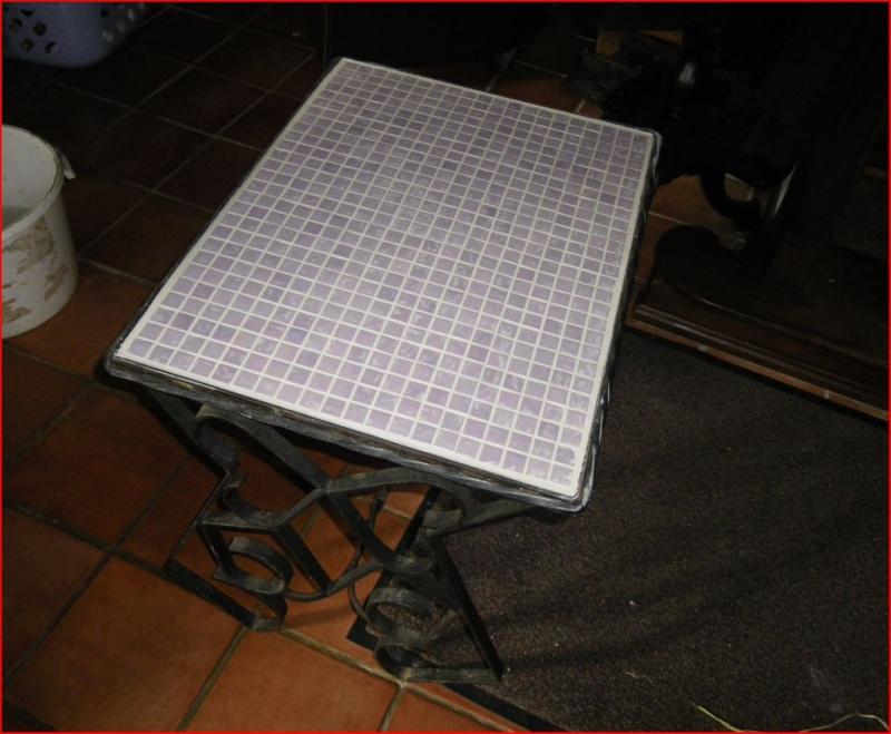 Restauration d 39 une table blasse en fer forg - Restauration d une table en bois ...