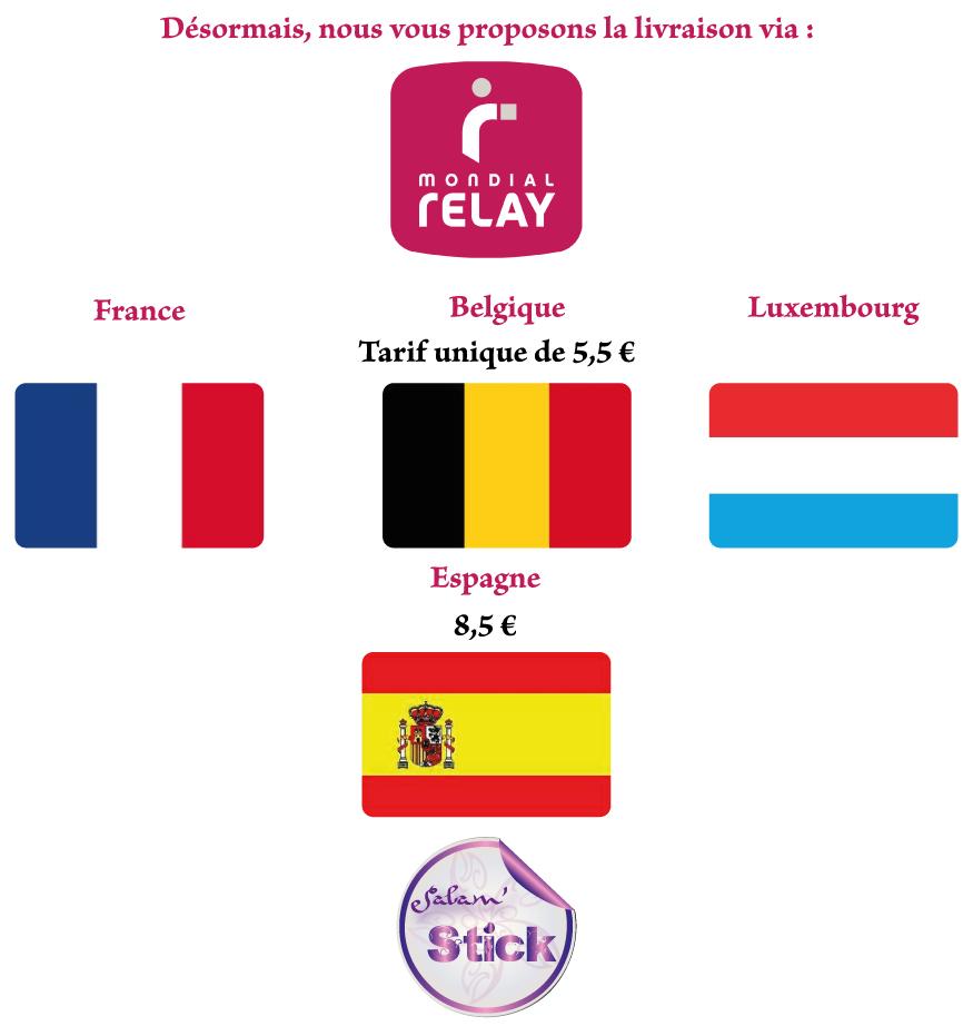 Livraison petit prix via mondial relay belgique luxembourg espagne - Mondial relay strasbourg ...