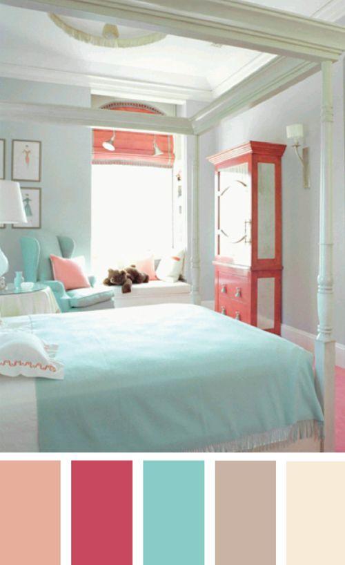 Associations de couleurs - Coral paint color for living room ...