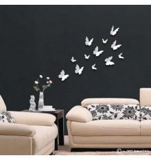 Lot de 12 papillons 3D BLANC