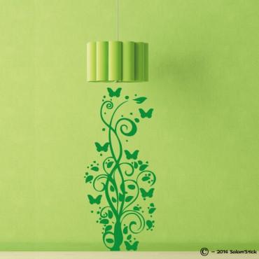 Sticker arbre papillon arabesque