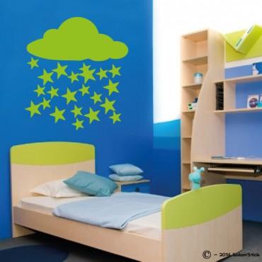 Sticker nuage pluie d'étoiles