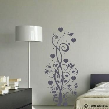Sticker arbre coeur arabesque