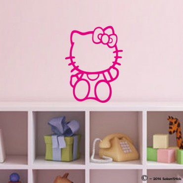 Sticker Kitty assise