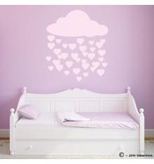 Sticker nuage pluie de coeur