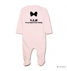 Pyjama bio personnalisable rose Very Important Baby