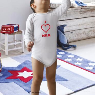 Body personnalisé I love Milk