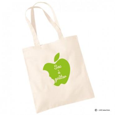 Tote bag sac à goûter pomme