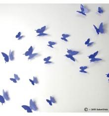 Lot de 12 papillons 3D VIOLET