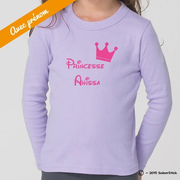 T-shirt Bébé Petite Princesse avec Prénom Personnalisé