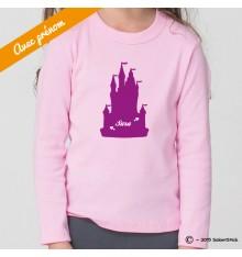 Tee-Shirt personnalisé château de princesse