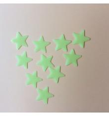 Lot d'étoiles phosphorescentes adhésives