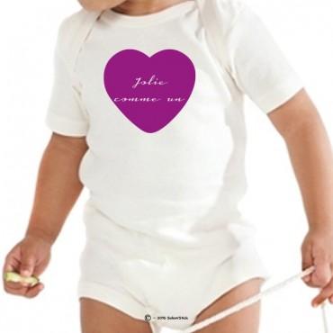 Body personnalisé Jolie comme un coeur avec motif