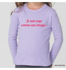 Tee-Shirt personnalisé sage comme une image
