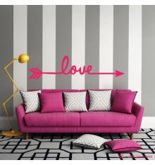 Sticker décoratif flèche love