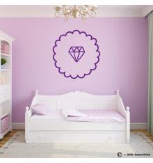 Sticker décoratif diamant