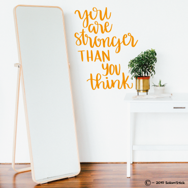 Sticker You are stronger than you think