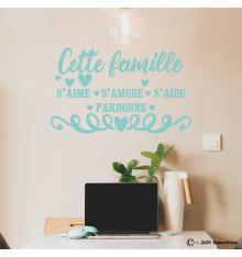 Sticker Cette famille…