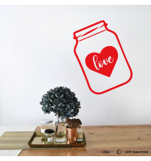 Sticker bocal love