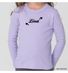 Tee-Shirt personnalisé prénom coeur