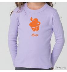Tee-Shirt personnalisé prénom cupcake