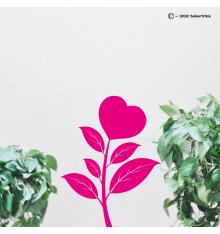 Sticker fleur coeur